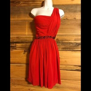 Size 14 Red Jessica Simpson Party Dress Plus